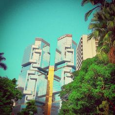Lippo Towers viewed from the Hong Kong Zoological & Botanical Gardens - @balazsroth- #webstagram