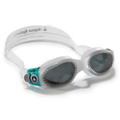 Aqua Sphere - Kaiman Lady Swim Goggle - Pearl/Aqua with Smoke Lens