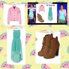 Violetta  Jurk Schoenen Jasje Violetta Outfits, Katherine Pierce, Disney Outfits, School Outfits, Amy, Shugo Chara, Prom Dresses, Chic, Clothes