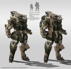 Infantry mecha by StTheo.deviantart.com on @DeviantArt