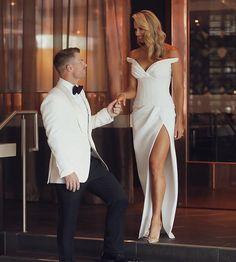 David Warner, Absolutely Stunning, Tom Ford, White Dress, Formal Dresses, Instagram, Sports, Fashion, Dresses For Formal