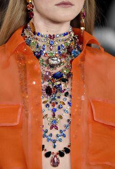 130186: Ralph Lauren S/S 2015...#jewelry #layeredjewelry #necklaceLayering #jewelryTrends #necklaces #fashion #fashionTrends #popularFashions