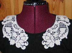 Advanced Embroidery Designs - FSL Battenberg Peony Lace Collar