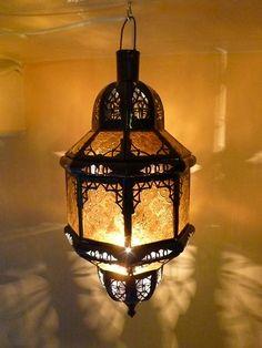 Orientalische Lampe Fula Orange