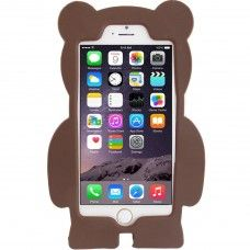 iPhone 6 6s Plus 5.5 - 3D Silicone Cartoon Cute Soft Protective Phone Cover Case - Blue Teddy Bear