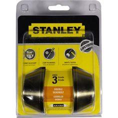 STANLEY DOUBLE CYLINDER DEADBOLT AB-S836023