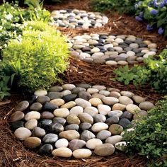 Tropical Landscaping, Landscaping With Rocks, Backyard Landscaping, Landscaping Ideas, Backyard Ideas, Nice Backyard, Inexpensive Landscaping, Landscaping Edging, Modern Garden Design