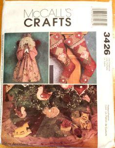 Crafts Christmas Ornaments, angel & Tree Skirt McCalls 3426 Pattern NEW UNCUT #McCalls