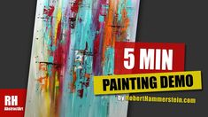 Easy & Satisfying Painting Demonstration / 5 Minute Time Lapse / - S. Ways To Relax, Just Relax, Happy Paintings, Painting Videos, Abstract Art, Give It To Me, Make It Yourself, Black And White, Amazing