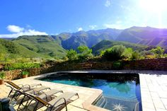 These self catering cottages are very well equipped, offer their own pools and beautiful views. Located in Robertson Cottage Wedding, Self Catering Cottages, Organic Farming, Mountain View, Swimming Pools, Cape, Luxury, Outdoor Decor, Beautiful
