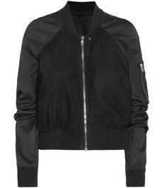 mytheresa.com - Brushed leather bomber jacket - Luxury Fashion for Women / Designer clothing, shoes, bags