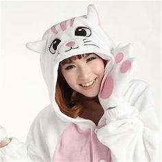 Kigurumi Adult Animal Onesies - White Cat - Shipping Cap Promotion- - TopBuy.com.au