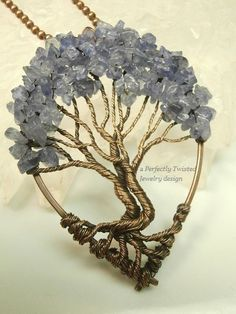SOLD! Wire Wrapped Tree of Life Tanzanite beads by PerfectlyTwisted