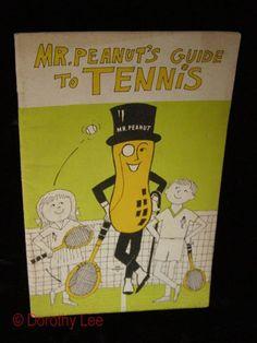 Mr. Peanut's Guide To Tennis Mail Away Premium 1969 #mrpeanut #collectibles #memorabilia #advertisingmemorabilia