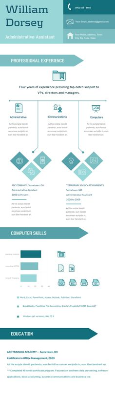 Infographic Resume Templates Available In VismeCo