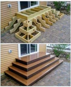 Home Discover Deck stairs - 27 gorgeous patio deck design ideas to inspire you updowny com Outdoor Projects Home Projects Project Projects Backyard Projects Types Of Stairs Deck Stairs Wood Stairs Front Porch Stairs House Stairs Woodworking Plans, Woodworking Projects, Woodworking Classes, Woodworking Shop, Woodworking Machinery, Woodworking Techniques, Woodworking Furniture, Woodworking Jointer, Youtube Woodworking