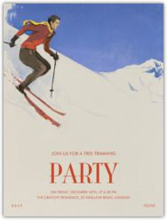 """Think I need to have an apres ski party... Paperless Post - Browse """"ski"""""""