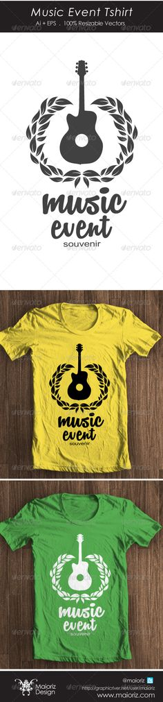 Music Event #Tshirt - Events T-Shirts Download here: https://graphicriver.net/item/music-event-tshirt/4385115?ref=alena994