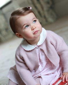 Portrait of Princess Charlotte released to mark her first birthday. The portrait was taken by the Duchess of Cambridge at Amner Hall in April.