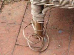 Repair Loose Ends on Wicker Furniture - It is important to cleanup and repair your wicker before painting.
