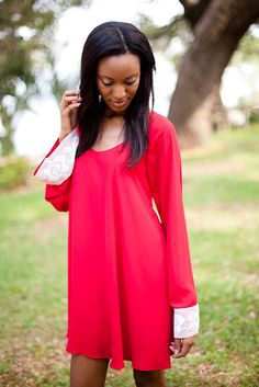 Red Red Red--Judith March  www.JudithMarch.com   #red #dress #fashion #crochet #judithmarch