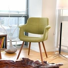 Vintage Flair Mid-century Modern Accent Chair | Overstock.com Shopping - The Best Deals on Dining Chairs