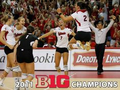 Husker Volleyball Big 10 Champs 2011 - wallpaper