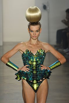 Always eagerly awaited during fashion week.The Blonds at New York Fashion Week Spring 2014 - StyleBistro #NYFW #THEBLONDS