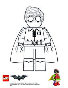 Lego Batman movie Robin coloring page