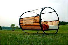 /// Rocking bed | outdoor bed designed by Joe Manus