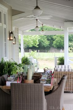 LLH DESIGNS: The 2013 Southern Living Idea House: Rustic Meets Refined Ballard design outdoor furnishings