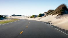 North Carolina state highway 12 carves it's way through the dunes of the Outer Banks. This stretch is the only paved road connecting Nags Head and Rodanthe, inspiration for the movie and novel Nights in Rodanthe.
