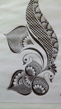 Mandala Art Therapy, Mandala Art Lesson, Mandala Artwork, Easy Mandala Drawing, Doodle Art Drawing, Art Drawings Beautiful, Art Drawings Sketches Simple, Mehndi Designs Book, Doodle Art Designs