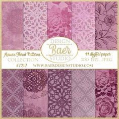 Purple Textured Digital Paper, Mauve Digital Paper