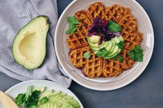 These sweet potato chia waffles are pretty decadent - crispy on the outside, moist and spongy on the inside and full of those sweet potato flavours. Enjoy some sweet or savory.