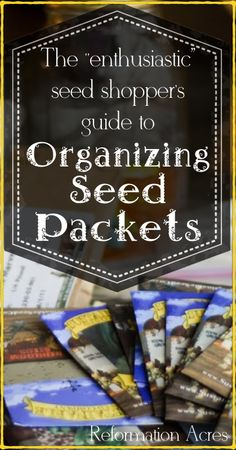 Organizing Seed Packets
