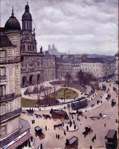 """""""La place de la Trinité"""" (vers 1911), une oeuvre d'Albert Marquet (1875-1947) (Paris 9ème)"""