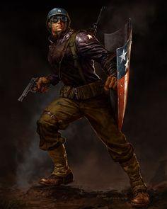 Captain Amercai: The First Avenger concept art by Ryan Meinerding