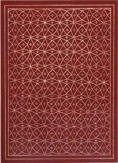 Pompeii pattern on floor.