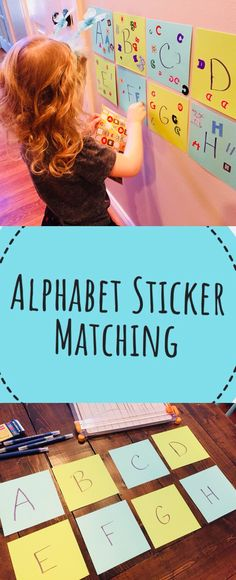 Alphabet Sticker Matching - Easy Preschool Activity to help child learn letters.
