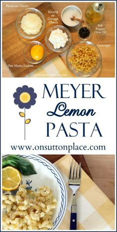 from on sutton place meyer lemon pasta meyer lemon pasta an easy side ...