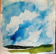 Original Watercolor Landscape Painting on by ElissaSueWatercolors, $25.00