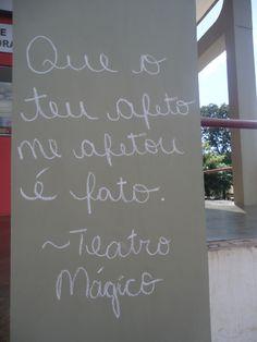 Que o teu afeto me afetou é fato - Teatro Mágico