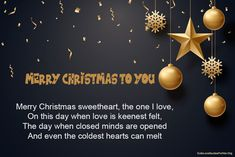 25 Merry Christmas Love Poems for Her and Him Love Poem For Her, Love Poems, Merry Christmas Quotes, Christmas Images, Funny Poems, No One Loves Me, When You Love, Image Hd, Loving Someone
