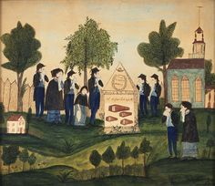Worth Family mourning picture  New England, circa 1815  Private collection