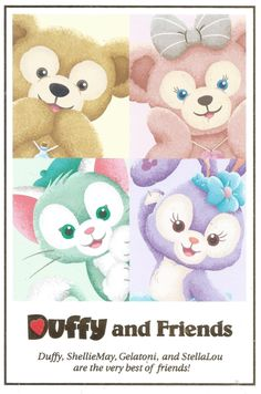 Navy Exchange, Duffy The Disney Bear, Disney Illustration, Tokyo Disneyland, Diy And Crafts, Teddy Bear, Wallpaper, Friends, Disney Characters