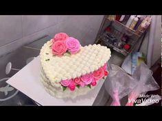 Bánh Kem Giỏ Hoa Trái Tim - Decor Birthday Cake Flower - YouTube Easy Fondant Recipe, Bolo Frozen, Cake Decorating Piping, Cake Shapes, Birthday Cakes For Women, Dessert Decoration, Cake Icing, Floral Cake, Cupcakes
