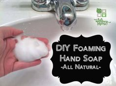 This easy foaming hand soap contains only water, organic liquid castille soap, a moisturizing oil and optional essential oils for a simple and frugal homemade soap.