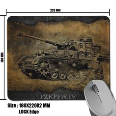 Popular Product World of Tanks PZKPFW IV Background Comfort Non-Skid Pad for Computer Desktop Speed Mouse Mat