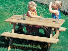 Mesa Picnic rectangular para niños grueso extra